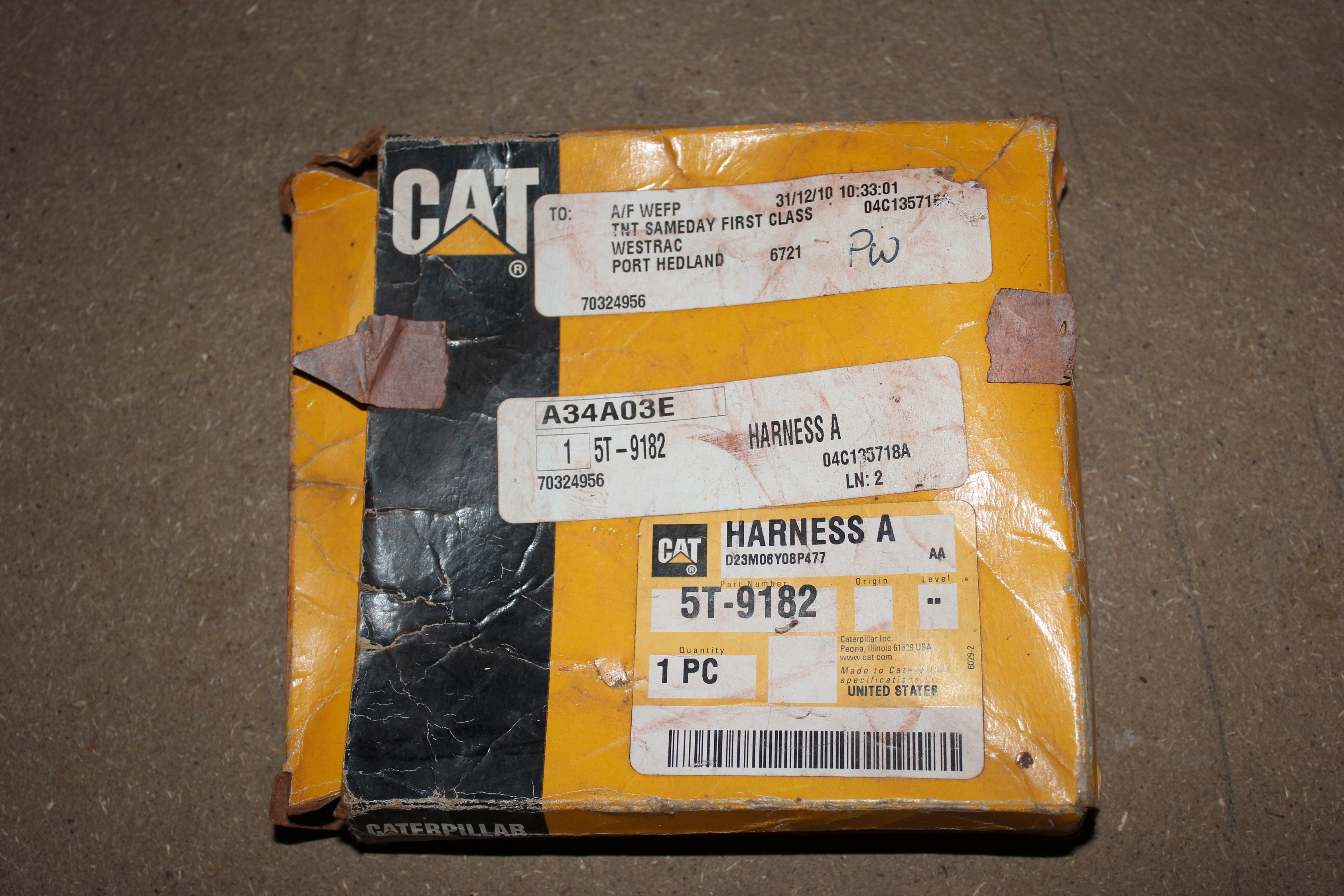 Caterpillar Wiring Harness 5t9182 Catparts Australia Machinery